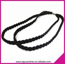 Braided double circle elastic headband,2 in 1 headband