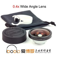 Universal clip 0.4X super wide angle lens for mobile phone camera