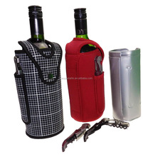 Wine Bottle Cooler Bag, Chiller Tote, Beverage Purse with Removable Insulated Gel Cooling Pad