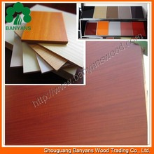 3mm thickness 1220*2440mm wood grain color melamine mdf