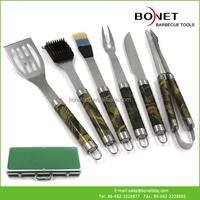 QAS0062 Feature Aluminum Case With 6Pcs Feature Handle BBQ Tools