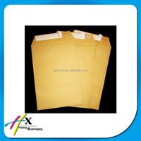 seal and peal adhesive tape kraft brown paper envelope