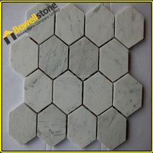 Prefabricate white marble mosaic marble tile price per square meter