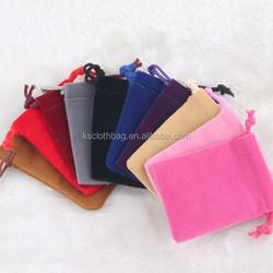 Stock And Custom Drawstring Jewelry Velvet Bag Gift Pouch