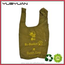 Hot promotion wholesaler 190T polyester fold up reusable shopping bags folding shopping bag