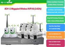 Waterproof Dome IP Camera NVR Kit H.264 Onvif NVR System 720P 8CH POE IP Security Camera Set