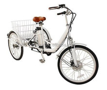 Adult three wheel electric bike/bicycle tricycle with high quality