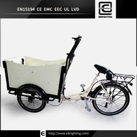 Europe rain cover van BRI-C01 electric children 3 wheel cargo trike bicycle