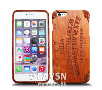 Durable Laser Engraved English Alphabet Pattern Wooden Phone Case for IPhone 6/6s/6 plus cover