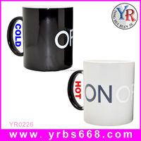 China Factory Direct Wholesale ON/OFF Color Changing Mug,ON/OFF Mug,Heat Sensitive ON/OFF Mug