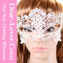 2015 cheap Halloween Party White Lace Mask wholesale handmade high quality