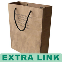 High Quality Color Printing Kraft Paper Carrier Bag With Black Ribbon Handle