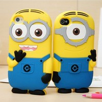 For iPod Touch 5 Minions Silicone Soft Case Cover