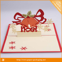 Alibaba Website 2015 Hot Christmas Craft Greeting Card Ideas Design for Adults