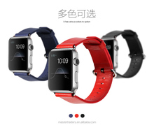 Original Rock 38MM Buckle Genuine Leather Watch Band Wrist Strap With 12 Holes For Apple Watch MT-3510