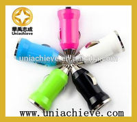Dual USB 2 port DC car charger 2.1A adapter for all USB charger devices