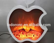 2015 new Apple shape beautiful decor flame inserts decorative electric Fireplace