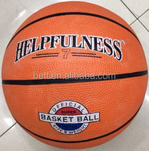 Popular official size high quality rubber material basketball