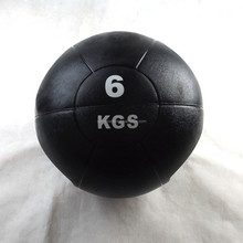 2015 6KG New double handle medicine ball rubber weight ball