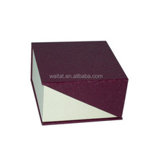 The Cube Ingenious Wine Red Vinyl Paper Wrapped Cardboard Watch Box