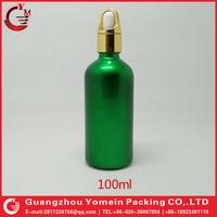 50ml paiting green skull head glass eliquid dropper bottle manufacturer guangzhou alibaba express