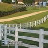 100% virgin vinyl white pvc horse fence