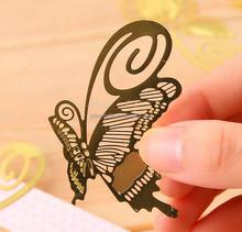 Custom delicate art design metal butterfly bookmark