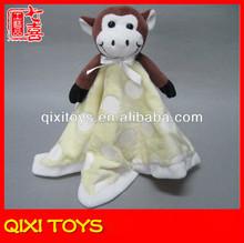2014 high quality monkey baby blanket plush blanket for baby
