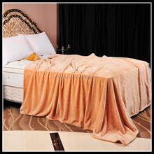 100% polyester pure color coral fleece blanket