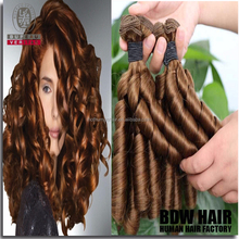 New arrival best selling funmi curl brazilian colored hair weave for black women
