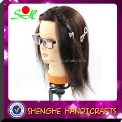 SH Ye Wholesale Female Hairdresser training head mannequin doll head with wig