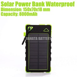 8000mAh Solar Power Bank Waterproof with Dual Output for Emergency Charging Made in China
