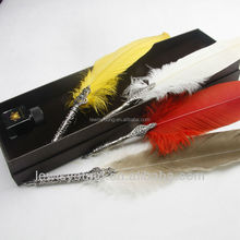 Beautiful quill feather pen set