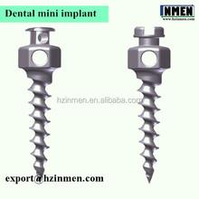 Dental mini screw titanium orthodontic denture tooth implants