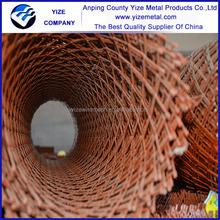 Expandable sheet metal diamond mesh/PVC coated expanded metal chair mesh price/Fairground low carbon expanded metal platform