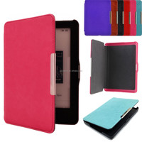 Top Quality Magnetic Auto Sleep PU Leather Stand Case Cover Skin Protector For Kobo Glo Screen protector film