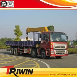 265 HP EUIII 8*4 FOTON TRUCK WITH XCMG 12 TON CRANE SALE