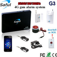 Siren volume adjustable 2G/3G/4G SIM card support alarm system with sos gsm panic button