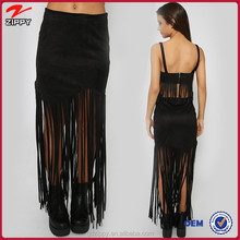 2015 new design clothes for women women skirt with tassels