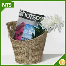 Artesanal decorativo Natural cesta de ervas marinhas