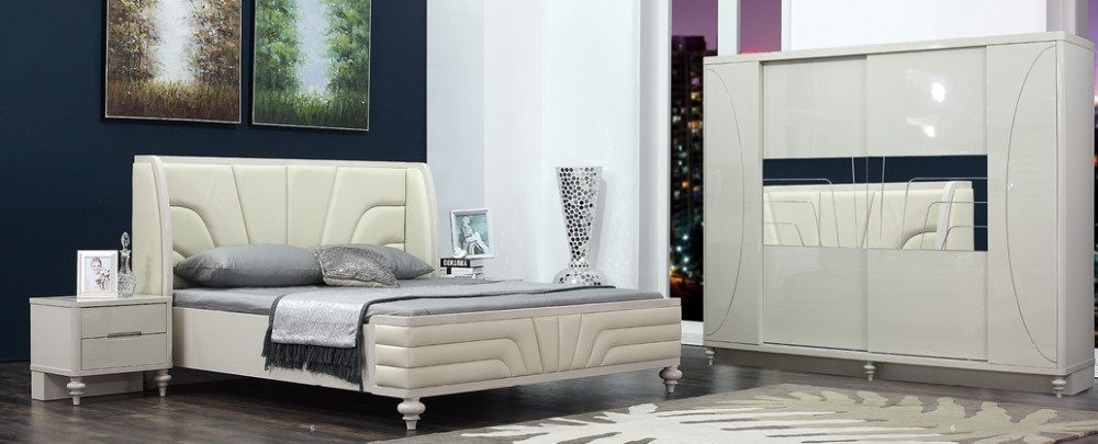 Charmant Modern Bedroom Furniture Foshan China / High Gloss Furniture Bedroom Set /  2017 New Design Bedroom Set