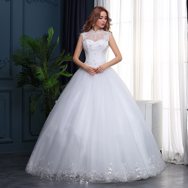 Wty97 New 2018 Korean Style Wedding Dresses Sleeveless Bridal Gown ...