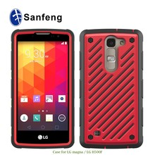 Factory oem colorful armor phone accessories for LG Magna H500 phone case made in China
