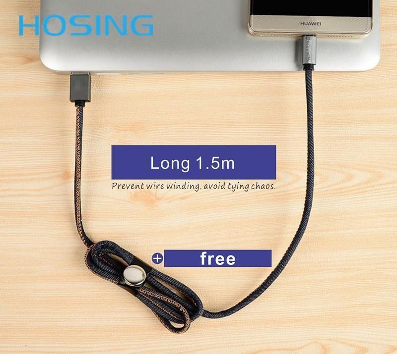 Новое прибытие 3.3ft Жан Denim 8pin usb-кабель MFi сертифицированы для i-Phone, для i-Pad