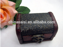 antique kinds of small wooden/bamboo jewelery boxes for gift new products