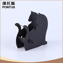 Powder coating vintage cat shaped metal necklace storage organizer