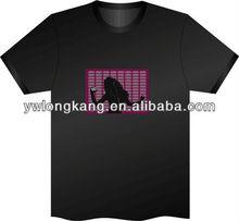 2014 yiwu fashion promotion led flashing t shirt el glowing t shirt for christmas and holidays