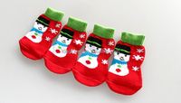 2015Lanle hot sale Christmas dog socks,pet footwear for wholesale and retail
