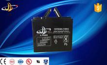 JL factory Solar Gel battery 12V 55AH Sealed Lead Acid battery AGM battery for ups,solar factory direct sale