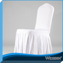 Solid colour polyester lycra spandex chair cover with table skirt for wedding